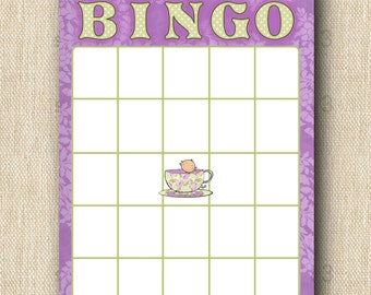 Baby Shower BINGO - A Baby's Brewing and Tea for Two - 12