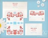Folk Invitation Suite | Printable