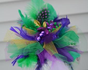 Mardi Gras Fascinator Hat