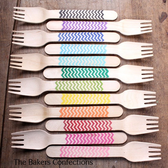 Cute wooden forks