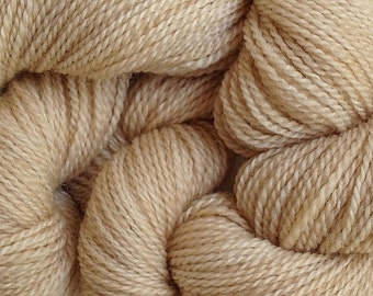 Merino Wool Yarn Lace Weight in Paper Beige Hand Painted