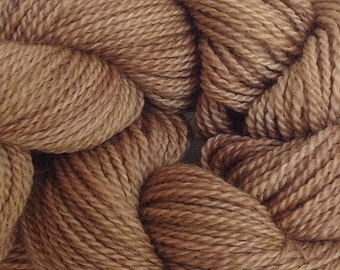 Merino Wool Yarn Lace Weight in Root Brown Hand Painted