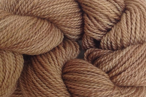 Merino Wool Yarn Lace Weight in Root Brown Hand by eweandmeyarns