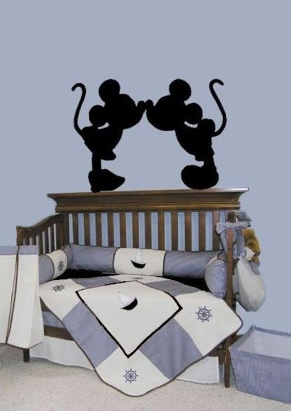 items similar to mickey mouse minnie mouse decals wall art decal disney characters stickers. Black Bedroom Furniture Sets. Home Design Ideas