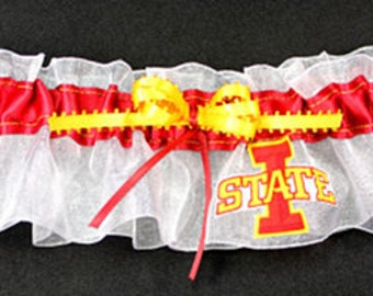 Iowa State, Cardinals Wedding Garter, Handmade, Can be Personalized