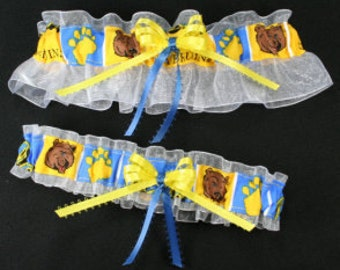 UCLA University of California, Los Angeles Bruins Wedding Garter Set, Handmade, Can Be Personalized