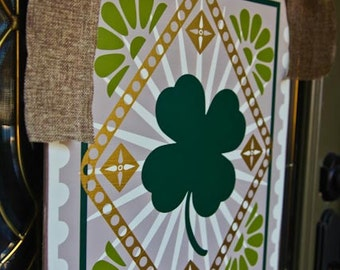 16x20 Saint Patricks Day Holiday Door Decoration