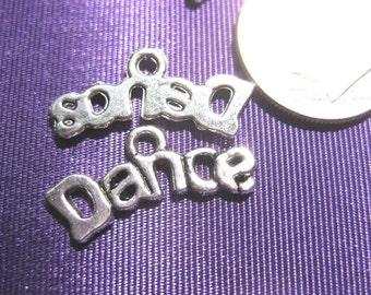 Dance Charm Tibetan Silver jewelry supply 5 pieces