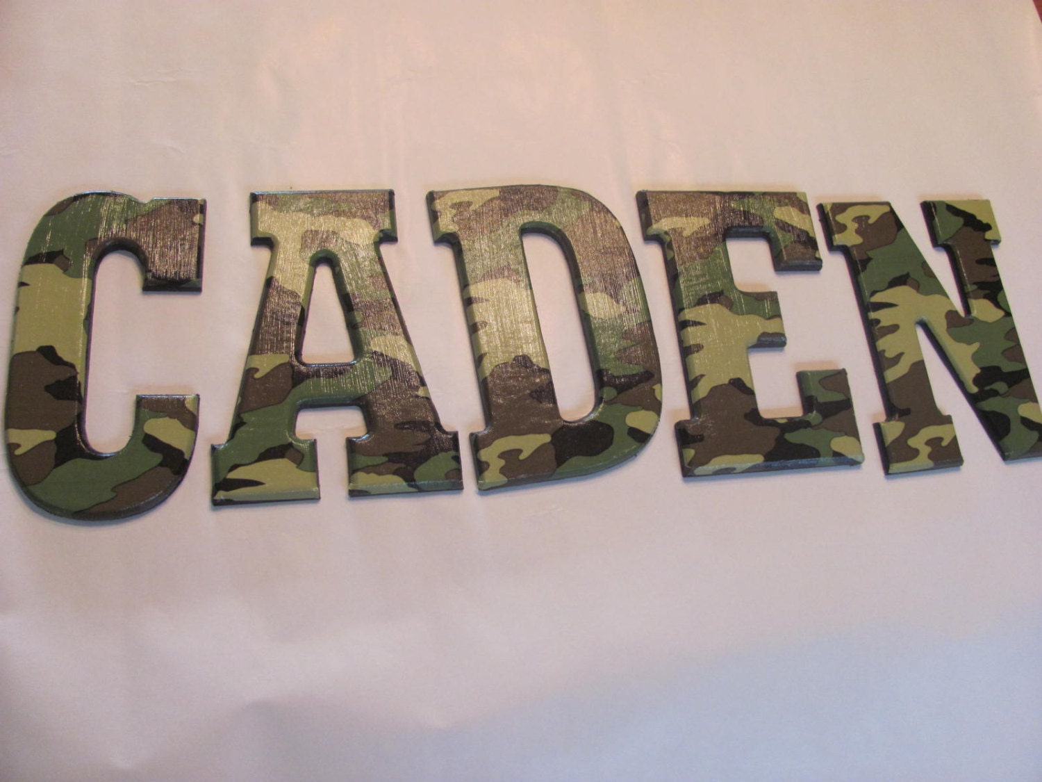 army camo wall letters reserved for romam With camo letters for wall