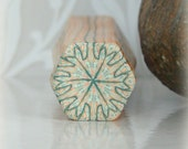 Polymer Clay Kaleidoscope Cane Green & Gold No. 160