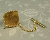 Vintage Golden Leaf Tie Tack