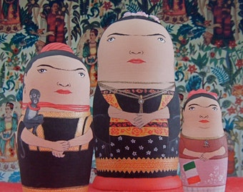 Frida Kahlo Matryoshka Dolls