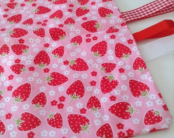 Gorgeous strawberry pinks taggy/scrappy blanket