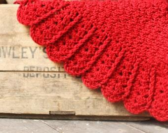 Crochet Pattern Baby Blanket Afghan Build A Diagonal Shell