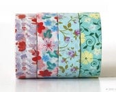 Floral Washi Tape Floral Tape Pretty Flower Washi Tape