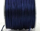 Navy Blue Satin Cording  by the yard Jewelry Supplies, Crafts, Weddings, Trim, Sewing, Necklace Cording, Gift Wrapping, Party Supplies
