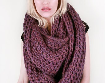 The Hudson Circle Scarf in Lavender Heather 100% Ultra-Soft Wool (Choose Your Colors!)