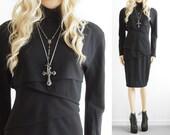 Versace Couture Dress Gianni Versace Couture Black Dress Vintage Designer Clothing Party Dress Goth Dress Cocktail Dress Gothic Dress S