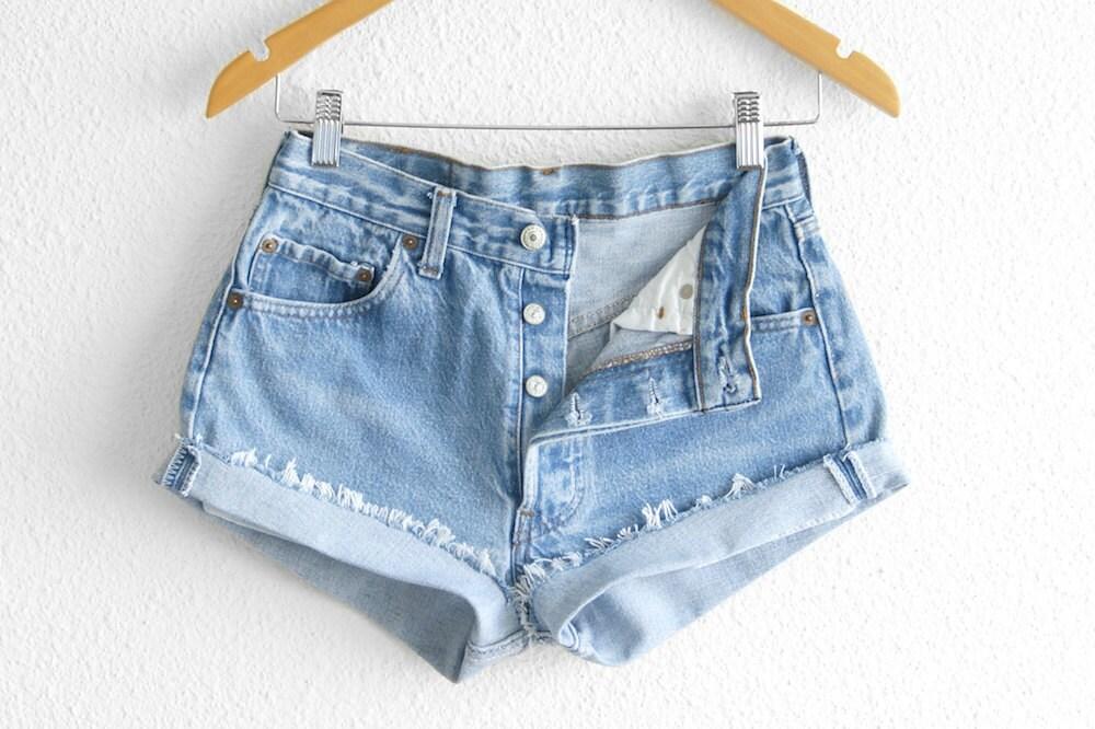 levis 501 high waisted shorts levi 501 shorts vintage levi. Black Bedroom Furniture Sets. Home Design Ideas