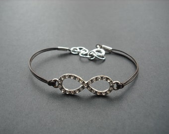 Ready to Ship - rhinestone infinity bracelet