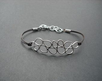 Bridesmaid Bracelet, Silver Bracelet with Long Multi Teardrop