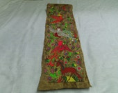 Mexico Amate Bark Paper Folk Art Painting 1970s Animals Birds Signed