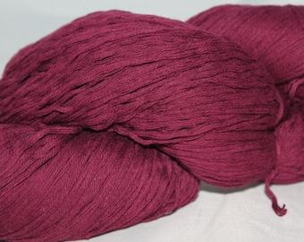 30% off STORE CLOSING SALE Reclaimed Purple Cotton Yarn, Sport Yarn - 571 Yards