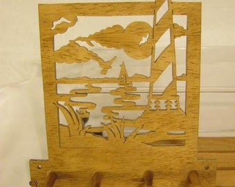 CAPE Hatteras LIGHTHOUSE KEY Rack Scroll Saw Plaque