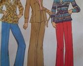 Vintage - 1975 - Simplicity 7137 - Jacket - Pants - Uncut Pattern - Bust 38