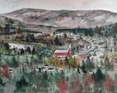 "Art Print Open Edition- ""Fort Kent, Maine"""
