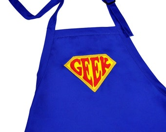 Super  Geek Apron Embroidered Full Apron Adjustable with Pockets