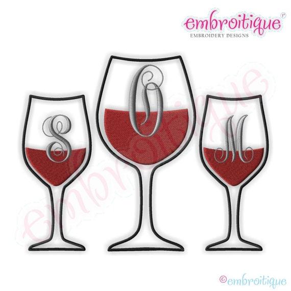 Champagne Glasses Photo Frame : Wine Glass Monogram Font Frame Small Digital Machine