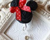 Minnie Mouse Rolled Rosette ID Name Badge Holder with Retractable Reel - Perfect Teacher Gifts