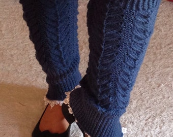 Stylish, Blue, Leg Warmers, Birthday, Christmas, Cosy, Warm, Gift