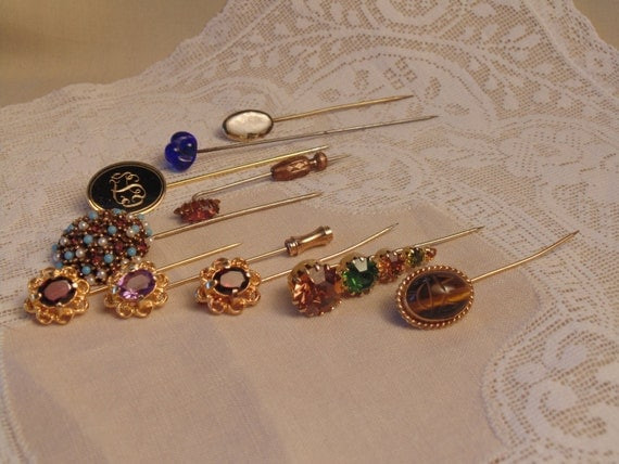 Vintage hat pin jewelry lot wholesale lot resell resale for Wholesale craft supplies for resale