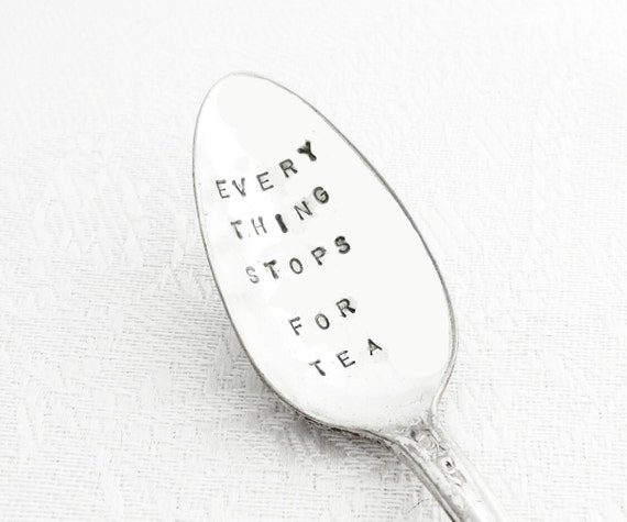 Everything stops for Tea - Jack Buchanan Vintage Spoon Hand Stamped from GOOZEBERRY HILL