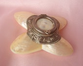 Antique Mother of Pearl Hinged Trinket Box
