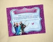FROZEN - Fill in the Blank Thank You Note - Instant Download