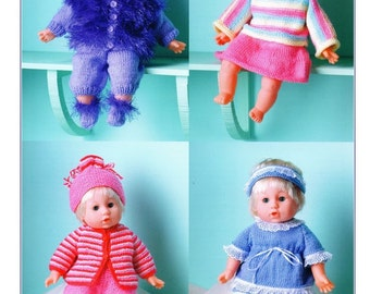 KNIT PATTERN  Doll's Wardrobe to knit for 16 inch doll DK   Download