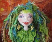 Rainbow Collection Soft Sculpture Doll - Green - OOAK