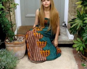 African Print dress S/M