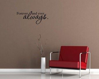 Vinyl Wall words quotes and sayings #0257 Forever and ever.. always