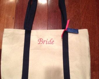 BRIDE Tote Bag Custom Personalized Bag