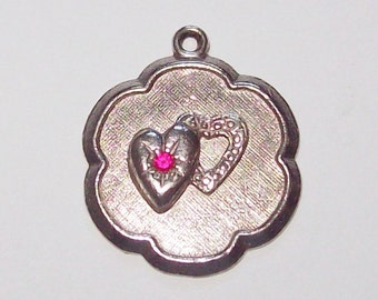 Two Hearts Sterling Silver Charm
