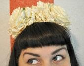 Cream Doo Nanny Floral Crown / Headband