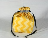 Sock sized Drawstring Knitting or Crochet bag