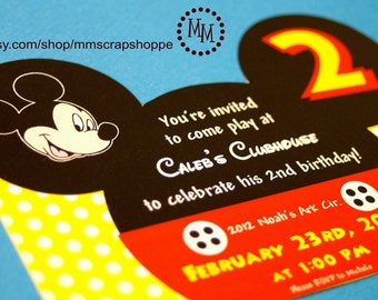 Mickey Mouse Custom PRINTABLE Birthday Invitation
