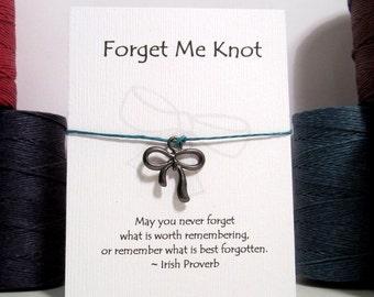 Forget Me Knot Make a Wish Bracelet
