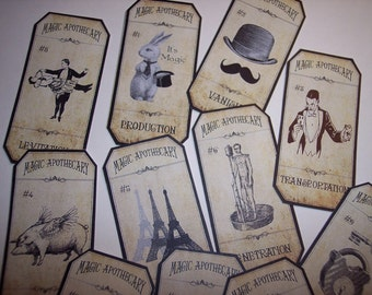 Magic Apothecary Steampunk Labels Set of 11