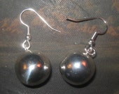 NEW Beautiful Shiny 20mm Silver Plated Chime Harmony Ball Earrings